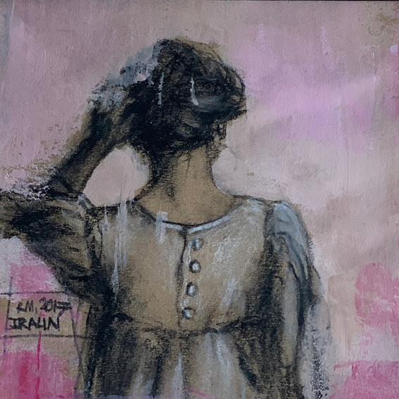 Молодая женщина в платье