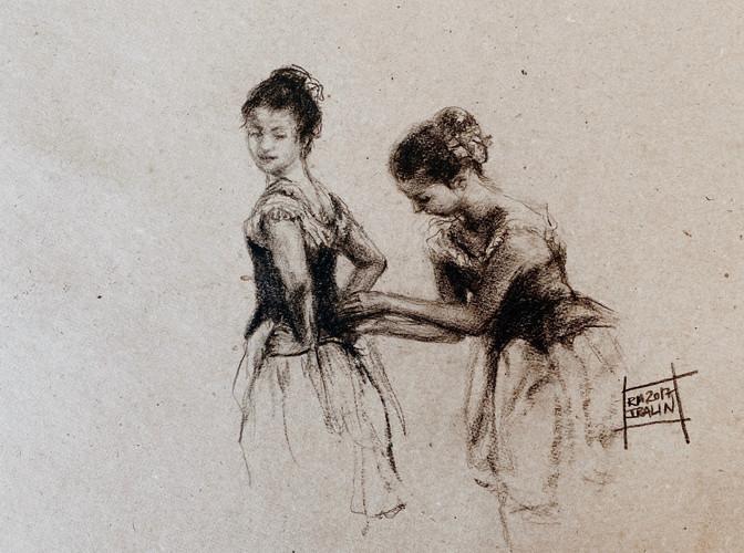 Две балерины в гримерной