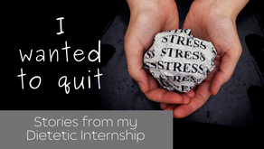 I was an Emotional Mess During My Dietetic Internship