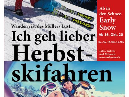 Skifahren im Herbst