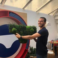 logo végétal entreprise, le slip français