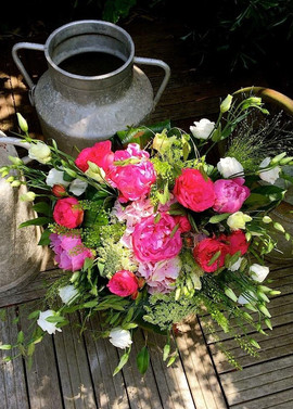 Décoration florale, bouquet de fleur rond