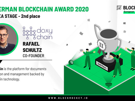 "German Blockchain Award 2020 - category ""Idea Stage"""