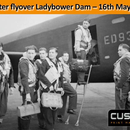 Lancaster flyover Ladybower Dam - 75th Anniversary - 17th May 1943