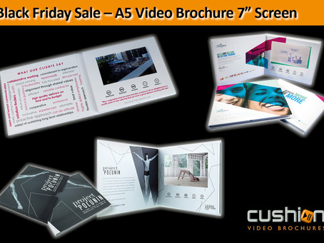 "Black Friday Sale – A5 Video Brochure 7"" Screen"