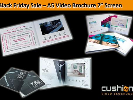 "Black Friday Sale – A5 Video Brochure 7"" Screen"