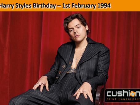 Harry Styles Birthday – 1st February 1994