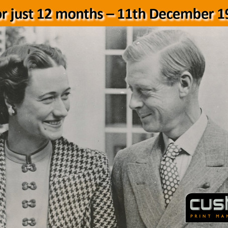 King for just 12 months – 11th December 1936