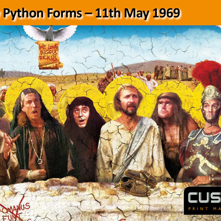 Monty Python Forms – 11th May 1969