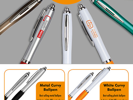 Best Selling Branded Curvy Ballpens