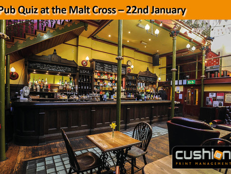 Pub Quiz at the Malt Cross, Nottingham – Monday 22nd January