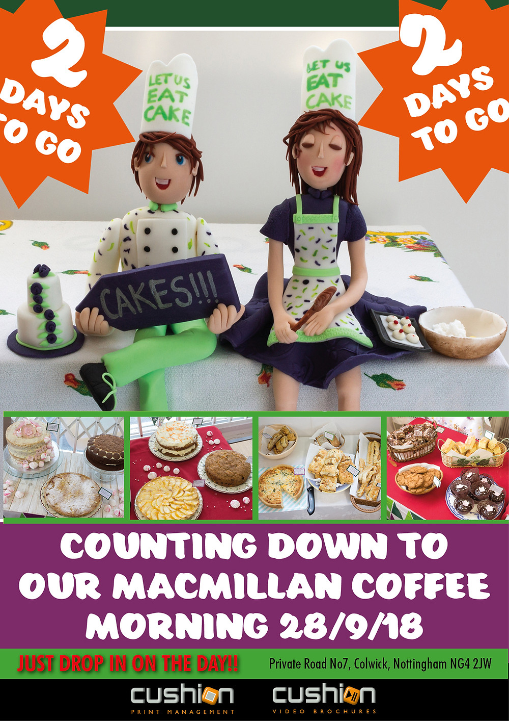 2 Days To Go - We are counting down to our Exciting Macmillan Coffee Morning!