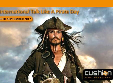 International Talk like a Pirate Day – 19th September...