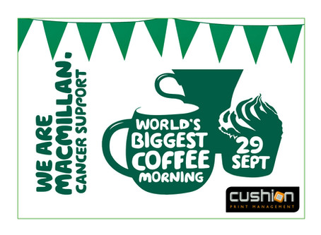 Macmillan's World's Biggest Coffee Morning – 29th September