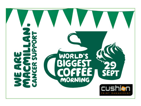 The World's Biggest Coffee Morning – 29th September...