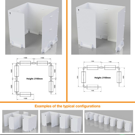 We supply testing and vaccination booths in bespoke sizes and layouts.