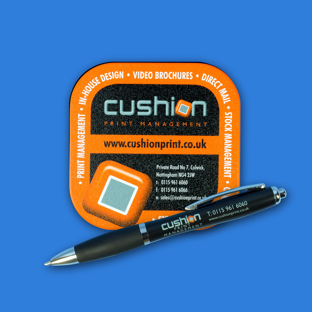Personalised Branded Coasters and Pens Print