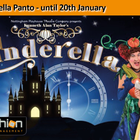 Cinderella Panto - until 20th January...