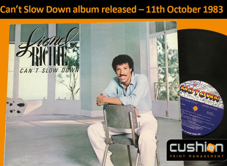 Can't Slow Down, Lionel Richie album released – 11th October 1983