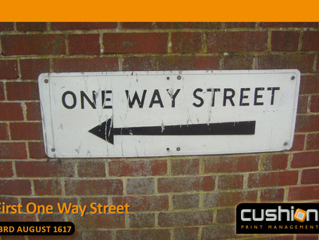 First One Way Street in London – 23rd August 1617...