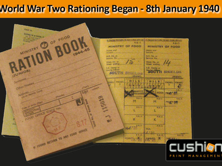 World War Two Rationing Began - 8th January 1940
