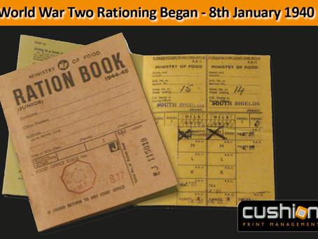World War Two Rationing Began - 8th January 1940