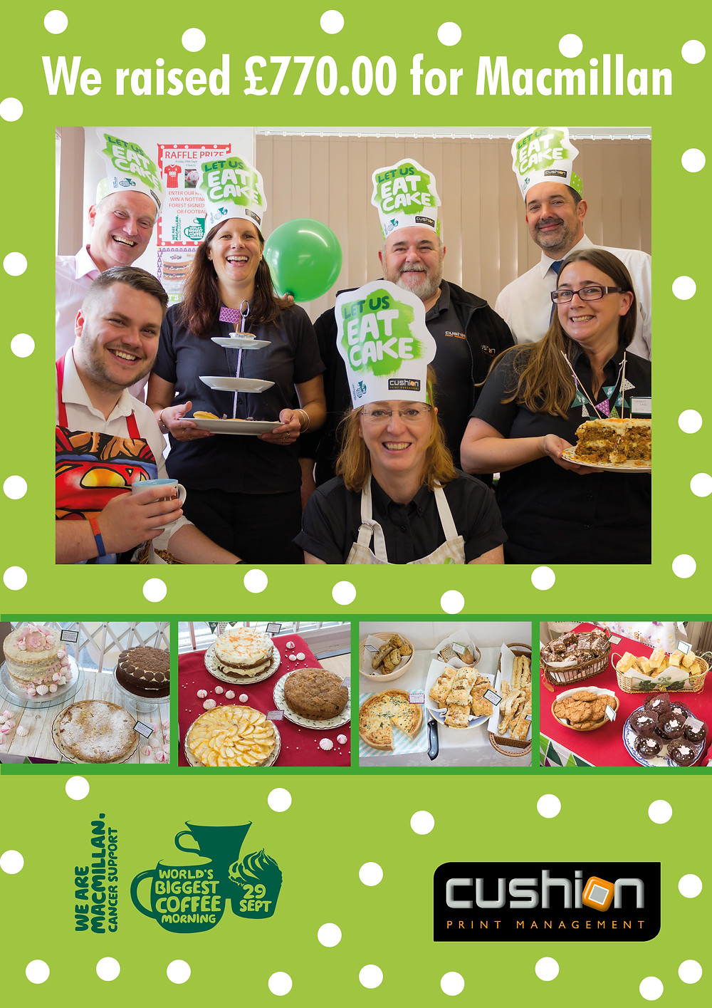 We Raised £770.00 In Total For Macmillan Cancer Support -  Smashing Last Year's Fund Raising