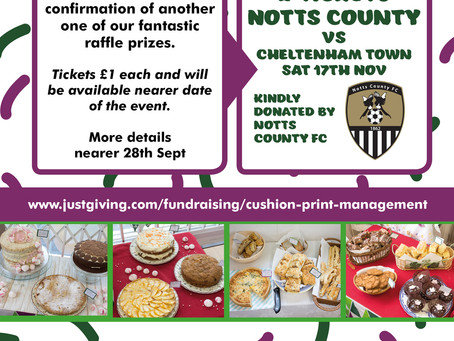 Win 2 x Football Tickets Kindly Donated By Notts County FC For Our Macmillan Cake Sale Event On 28th