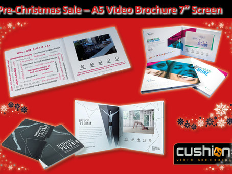 "Pre-Christmas Sale – A5 Video Brochure 7"" Screen - 7th December"
