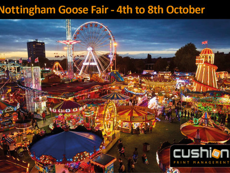Nottingham Goose Fair – 4th to 8th October
