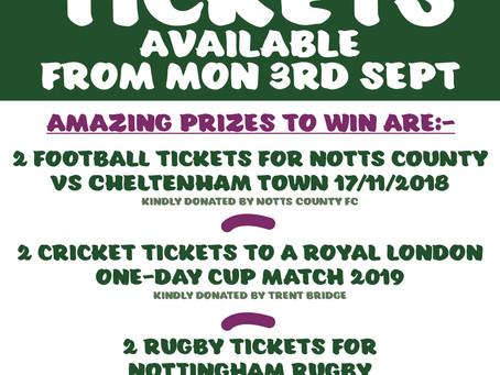 Cushion's Macmillan Coffee Morning Raffle Prizes confirmed.