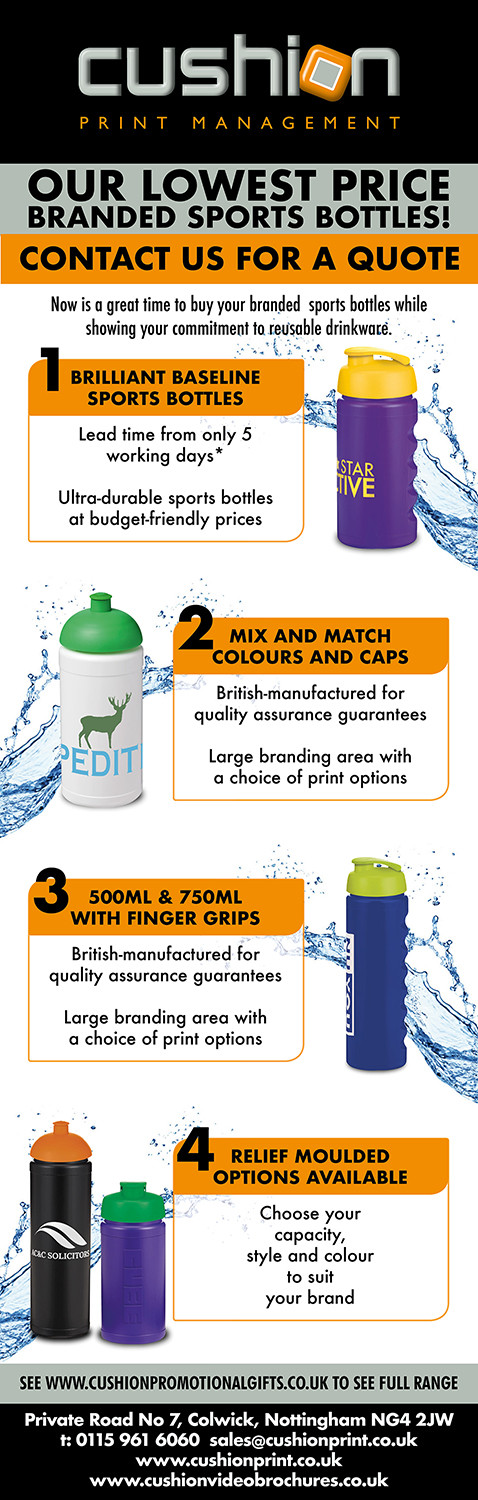Stay hydrated with our lowest priced branded sports bottles