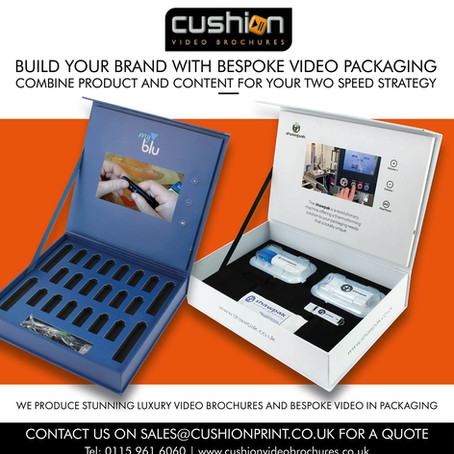 Gear up your marketing to a new level with Cushion Video Brochures.