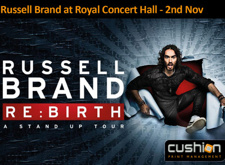 Russell Brand at the Royal Concert Hall Nottingham – 2nd November
