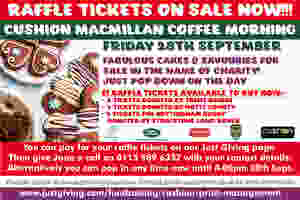 OUR CHARITY RAFFLE TICKETS ARE ON SALE NOW!