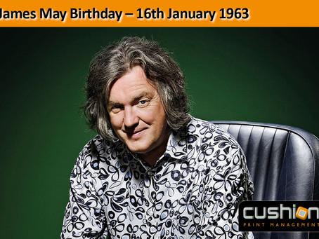 James May Birthday - 16th January 1963