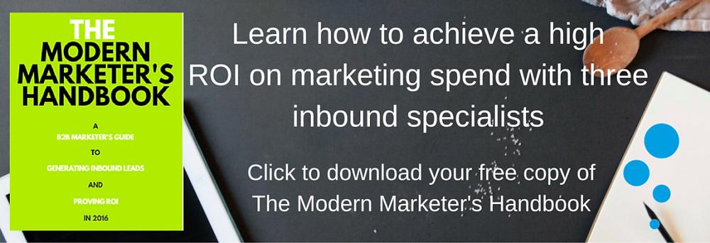 Modern Marketing eGuide Website Banner