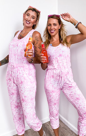 Pink Tie Dye Jumper