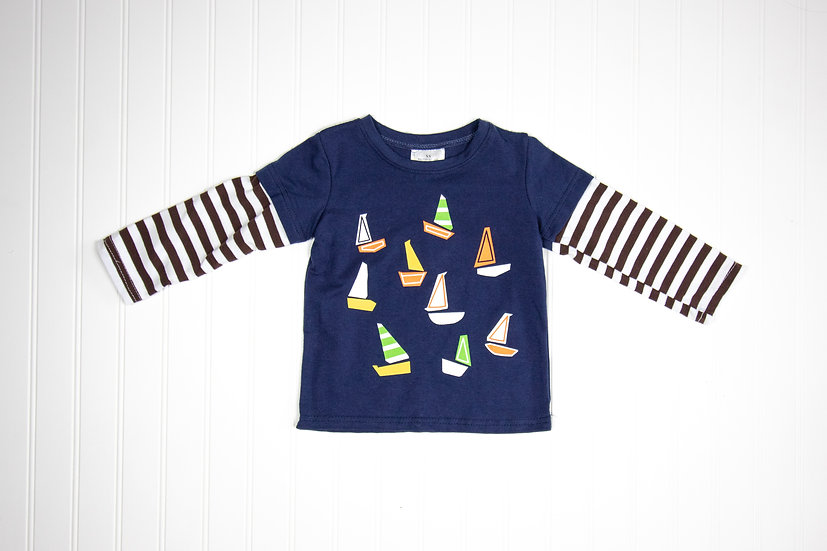 Sir Boats-A-Lot Layered Tee