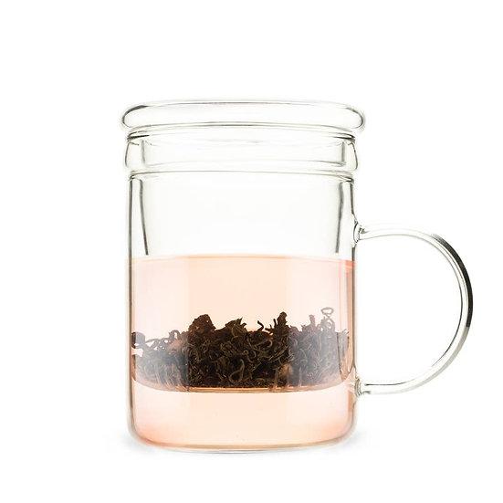 Pinky Up Glass Tea Infuser Mug