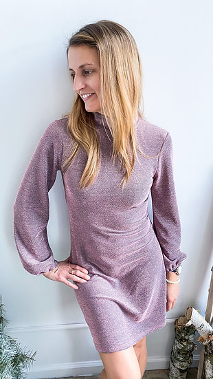 Pink Shimmer Party Dress
