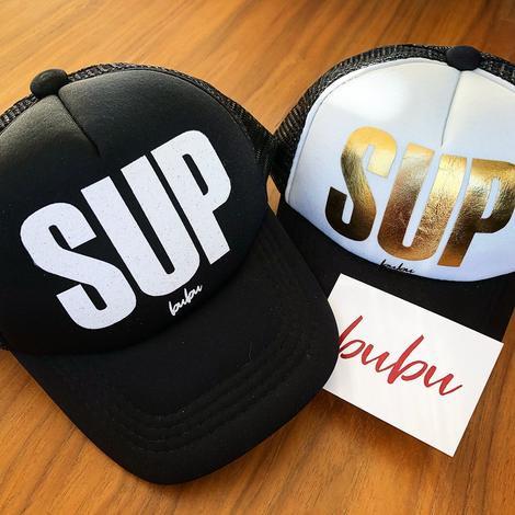 """Gold Foil """"SUP"""" Snapback"""