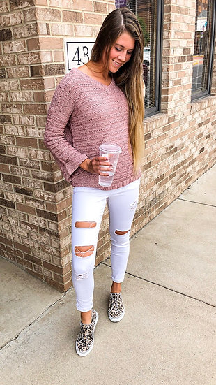 White YMI Distressed Jeans