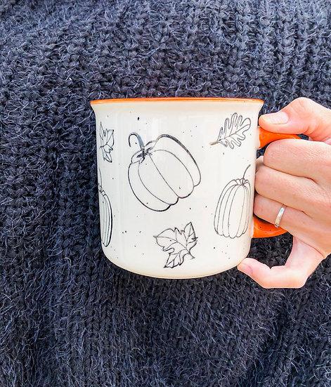 Pumpkin Stoneware Mug