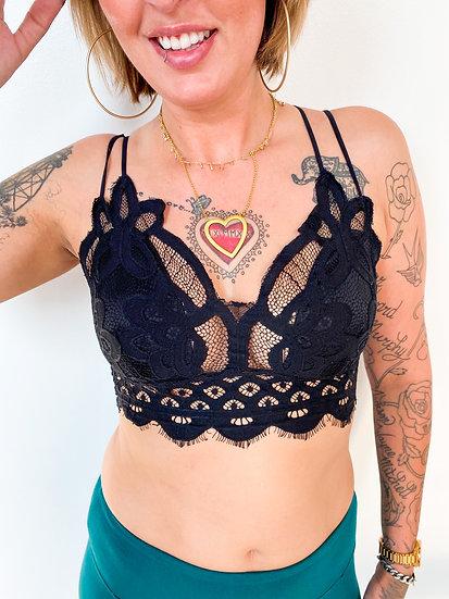Black Lace Padded Bralette