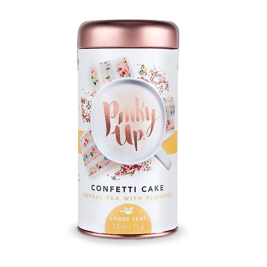 Pinky Up Confetti Cake Herbal Tea with Flowers
