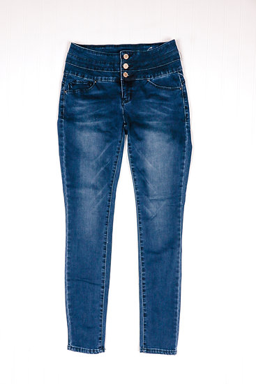 YMI Blue Blue Stacked Waist Jeans
