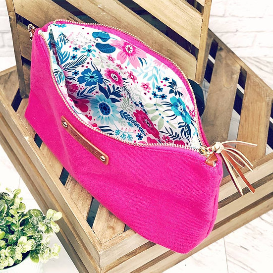 Pink Canvas Pouch Large