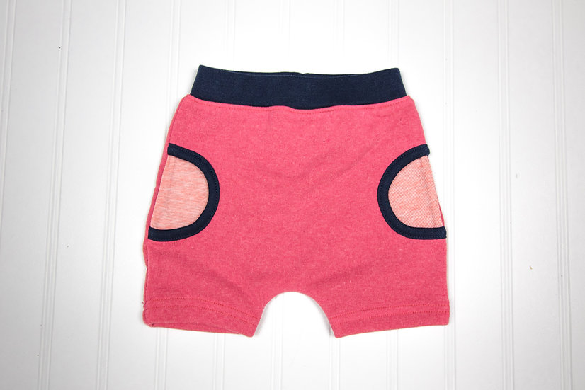 Watermelon Terry Pull-on Shorts