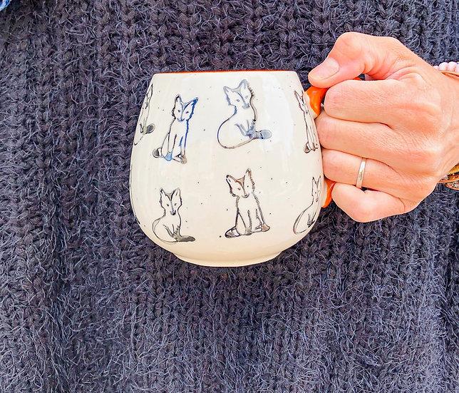 Fox Stoneware Mug